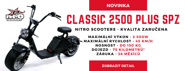 Nitro scooters Classic 2500 Plus SPZ – černá